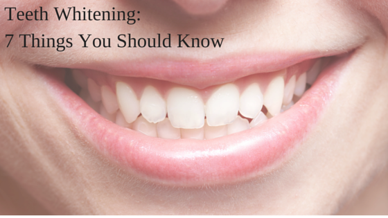 things you should know about teeth whitening