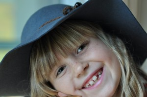 Image of girl smiling with healthy teeth