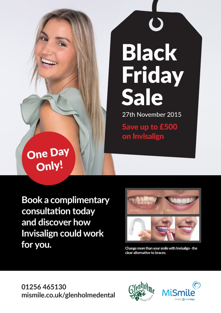 Black Friday offer on Invisalign in Basingstoke from Glenholme Dental